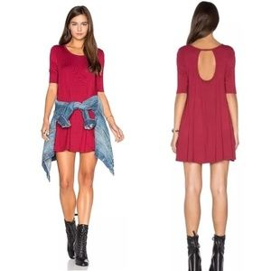 [Free People] We the Free Jacqueline Tunic Red
